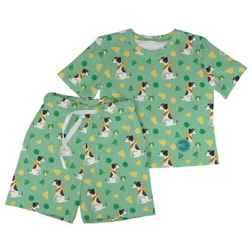 Купить Пижама Marengo Textile размер 140, зелeный, Домашняя одежда