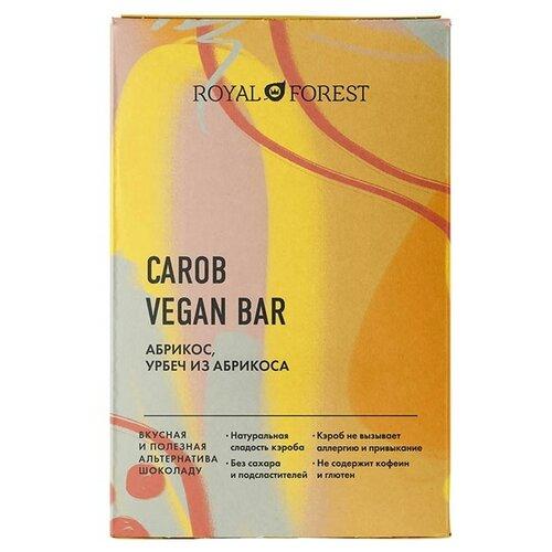 Фото - Шоколад ROYAL FOREST Carob Vegan Bar Абрикос, урбеч из абрикоса, 50 г royal forest carob drops дропсы из порошка плодов рожкового дерева 50 г