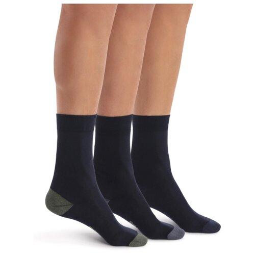Носки DIM 06KL, 3 пары, размер 43-46, синий носки dim 06kl 3 пары размер 43 46 черный
