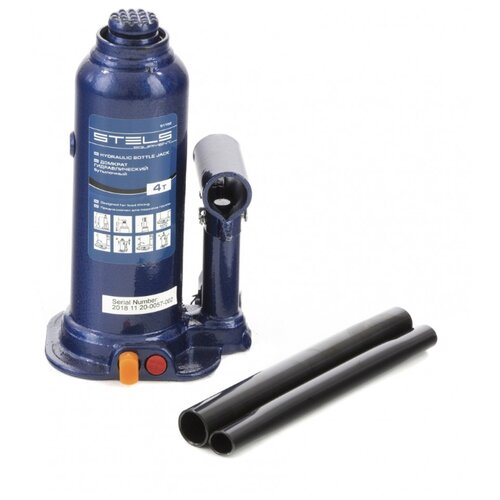 Домкрат бутылочный гидравлический Stels 51162 (4 т) синий