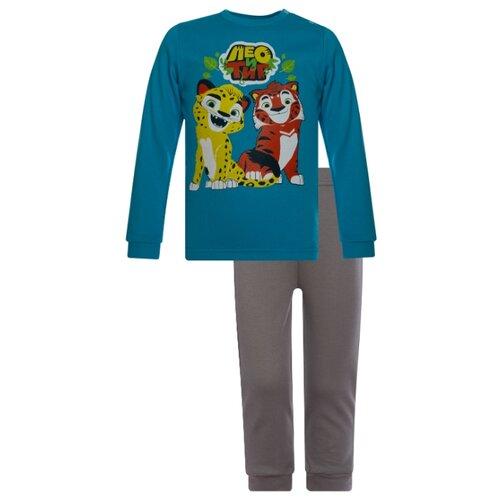 Купить Комплект одежды Утенок размер 92, бирюза/серый Лео и Тиг, Комплекты