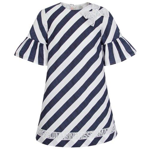 Платье Blumarine размер 92, полоска/белый/синий