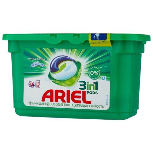 Капсулы Ariel PODS 3-в-1 Горный родник, контейнер, 13 шт