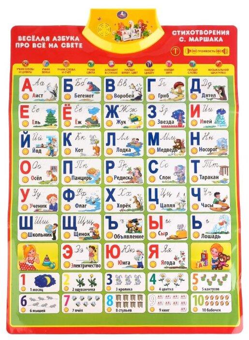 Электронный плакат Умка Весёлая азбука. Стихи С. Маршака
