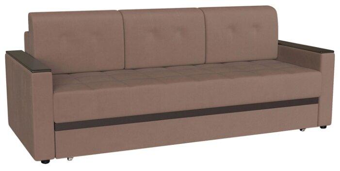 Прямой диван Первый Мебельный Атланта Коричневый