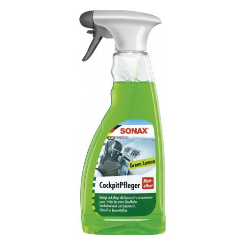 Фото - SONAX Очиститель полироль для пластика салона автомобиля Зеленый лимон 358241, 0.5 л grass полироль очиститель пластика салона автомобиля 120115 0 5 л