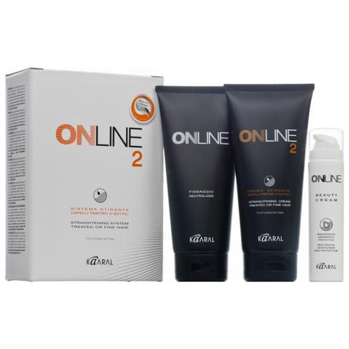 Kaaral Набор для перманентного выпрямления окрашенных и тонких волос Online Hair Straightening System 2