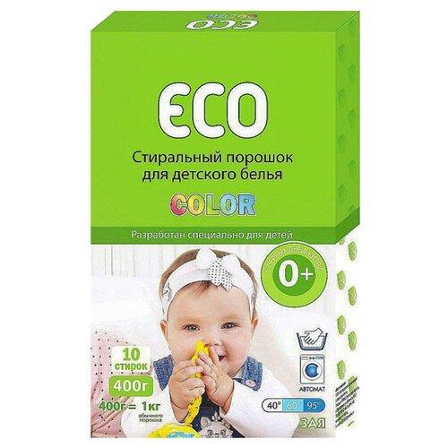 Стиральный порошок ECO Зая Color картонная пачка 0.4 кг