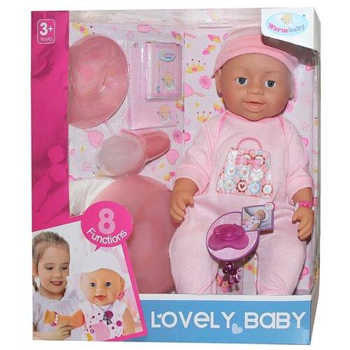 Фото - Интерактивный пупс Warm baby, 37 см, JB700346 интерактивный пупс baby doll