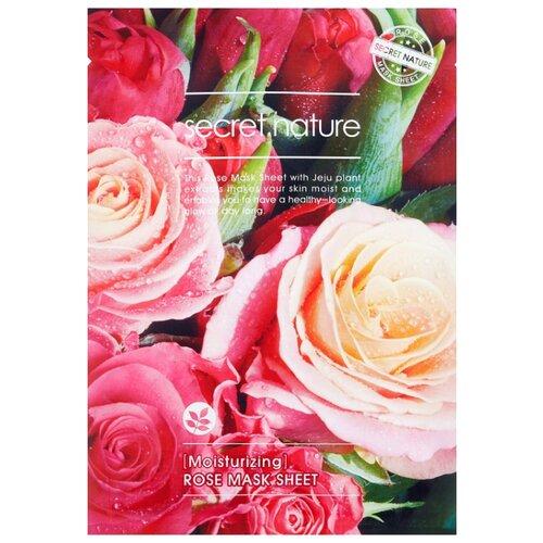 Secret Nature Увлажняющая тканевая маска для лица с экстрактом розы, 25 г маска д лица dr smart moisture protection увлажняющая с керамидами 3мл тканевая