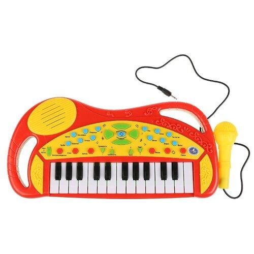 Купить Умка пианино B1454100-R красный/желтый, Детские музыкальные инструменты