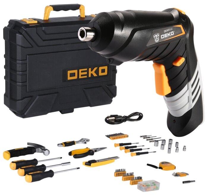 Купить Аккумуляторная отвертка DEKO DKS4FU-Li в кейсе с набором инструментов (112 предм.) по низкой цене с доставкой из Яндекс.Маркета (бывший Беру)