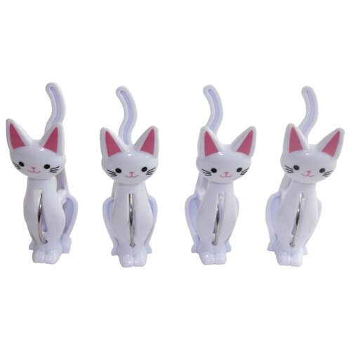 Florento прищепки Кошки 4 шт. белый