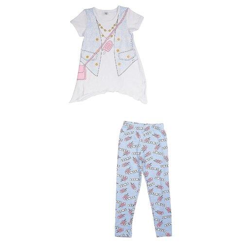 Купить Комплект одежды RuZ Kids размер 98, белый/голубой, Комплекты и форма