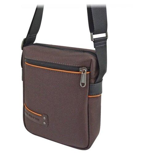 Сумка планшет Stelz 4414, текстиль, коричневый/оранжевый планшет