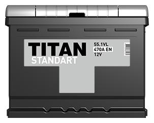 Автомобильный аккумулятор TITAN STANDART 6CT-55.1 VL
