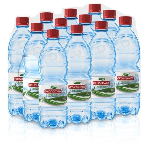 Вода минеральная Окололуга газированная, пластик, 12 шт. по 0.6 л