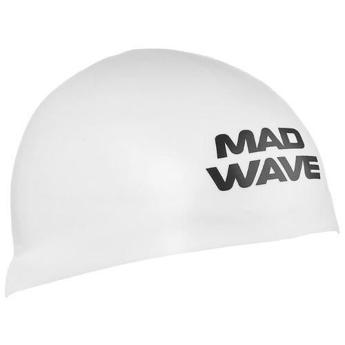 Шапочка для плавания MAD WAVE D-CAP белый M втулка задняя m wave 36 отверстий с гайками для трещетки 6 776
