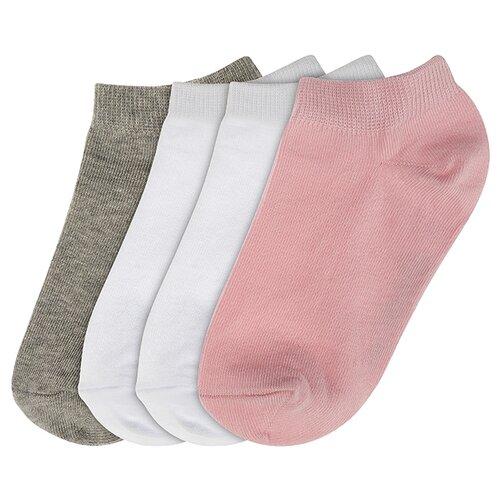 Купить Носки Oldos комплект из 4 пар, размер 23-25, серый/белый/розовый