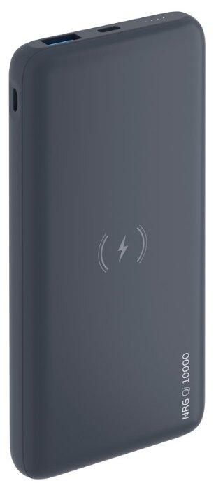 Универсальный внешний аккумулятор - беспроводное зарядное устройство Deppa NRG Qi 10000 mAh QC 3.0 18 W (2USB: 5V-2.1A) графит