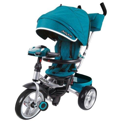 Купить Трехколесный велосипед Moby Kids New 360° 12x10 AIR Car морская волна, Трехколесные велосипеды
