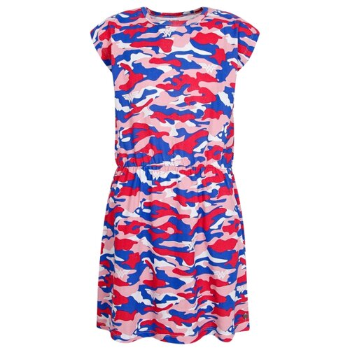 Платье ELEVENPARIS размер 128, розовый/синий/белый