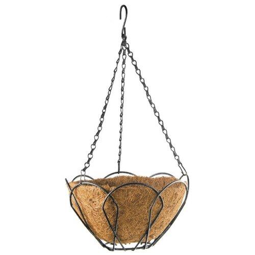 Фото - Кашпо PALISAD 69001 коричневый подвесное кашпо с орнаментом 30 см с кокосовой корзиной palisad
