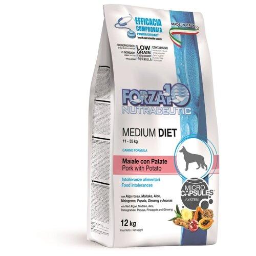 Сухой корм для собак Forza10 свинина с картофелем 12 кг (для средних пород)