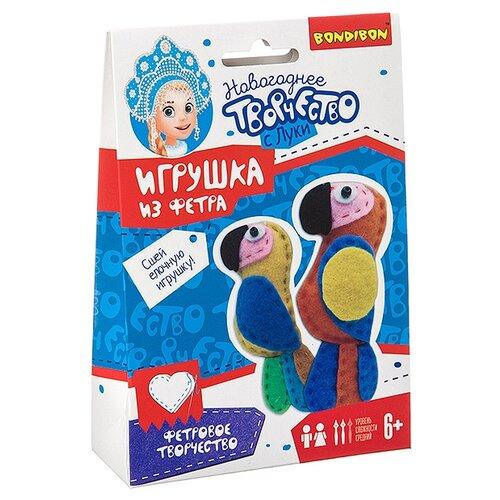 Купить Набор для творчества Bondibon Ёлочные игрушки из фетра своими руками. Попугаи , Изготовление кукол и игрушек