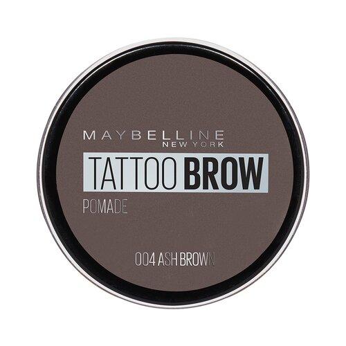 Maybelline New York Стойкая помада для бровей Tattoo Brow Pomade 04, пепельно-коричневый