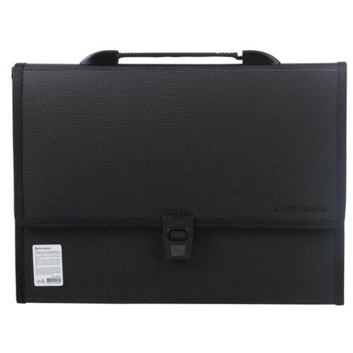 Купить BRAUBERG Портфель пластиковый Дипломат А4, 13 отделений, 330 х 240 х 25 мм черный, Файлы и папки