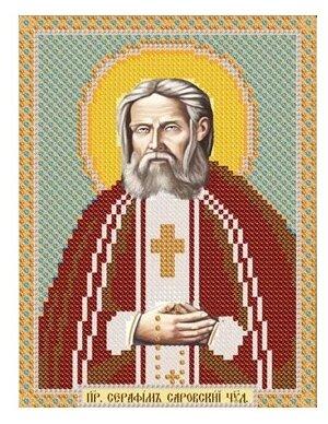 Канва для вышивания с рисунком NOVA SLOBODA Св. Серафим Саровский БИС-5010 13 х 17 см