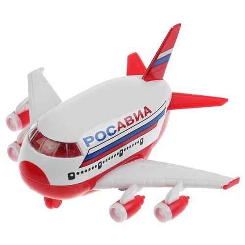 Купить Самолет ТЕХНОПАРК Росавиа (CT10-080-1-WB) 1:43 10 см белый/красный, Машинки и техника