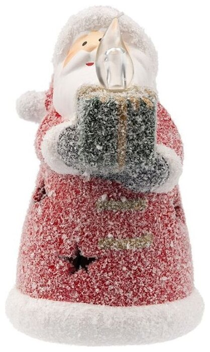 Керамическая фигурка «Дед Мороз со свечкой» 7х7х12 см, 1шт.