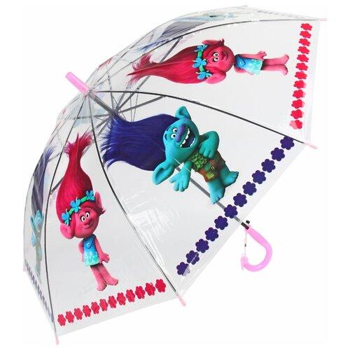 Зонт Amico розовый/прозрачный/синий