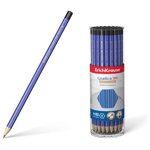 цена на ErichKrause Набор чернографитных карандашей Grafica 100 HB 42 шт (45483)