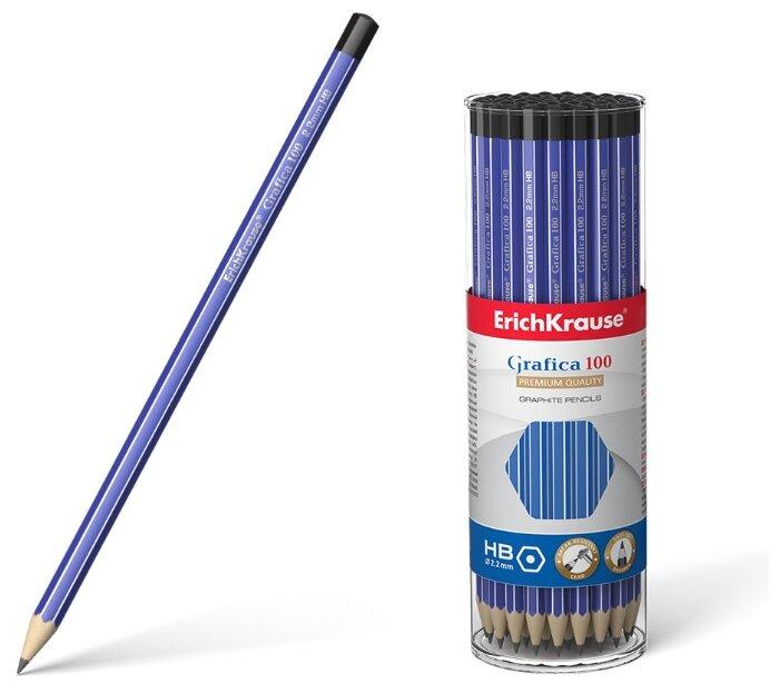 ErichKrause Набор чернографитных карандашей Grafica 100 HB 42 шт (45483)