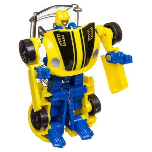 Купить Робот-трансформер BONDIBON Мы роботы, космические машины ВВ3260 желтый/синий, Роботы и трансформеры