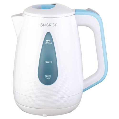 Фото - Чайник Energy E-214, белый/голубой чайник energy e 280 стальной