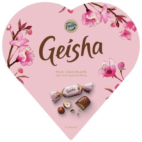 Набор конфет Fazer Geisha молочный шоколад 225 г karl fazer молочный шоколад с крошкой соленой карамели 200 г