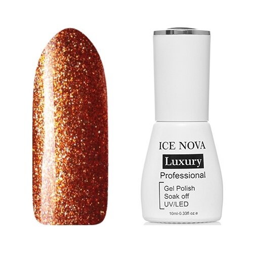 Купить Гель-лак для ногтей ICE NOVA Luxury Professional Shiny Diamond Gel, 10 мл, оттенок №04