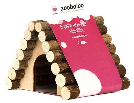 Домик для грызунов, хорьков Zoobaloo Треугольный 13х10х10 см