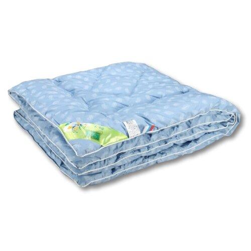 Одеяло АльВиТек Лебяжка 110х140 см голубой цена 2017