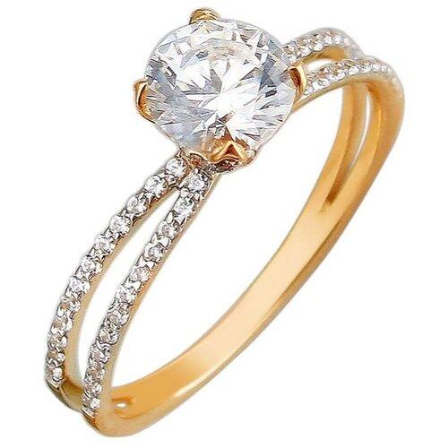 Эстет Кольцо с 59 кристаллами swarovski из красного золота 01К1111295, размер 18