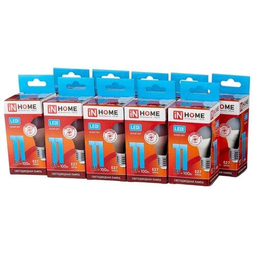 Упаковка светодиодных ламп 10 шт In Home LED-VC 820lm, E27, P45, 11Вт упаковка светодиодных ламп 10 шт in home led vc 820lm e27 p45 11вт