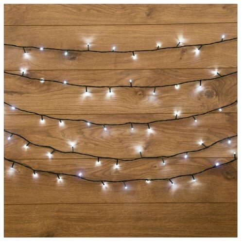 Гирлянда NEON-NIGHT Твинкл Лайт, 160 LED, 2000 см, 160 ламп, белый/зеленый провод гирлянда neon night колокольчики 20 led 280 см 20 ламп разноцветный зеленый провод