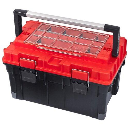 Ящик с органайзером Patrol HD Trophy 2 Carbo 59.5x34.5x35.5 см черный/красный ящик stanley 1 97 514 со съемным органайзером 24 67x32 3x25 1см