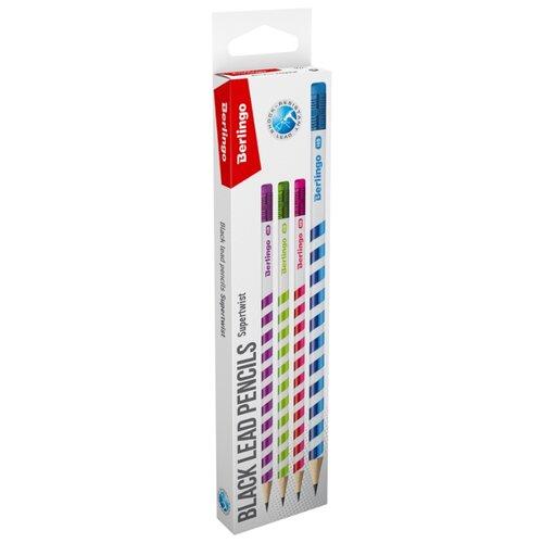 Купить Berlingo Набор чернографитных карандашей Superwist 12 шт (BP00940_12R), Карандаши