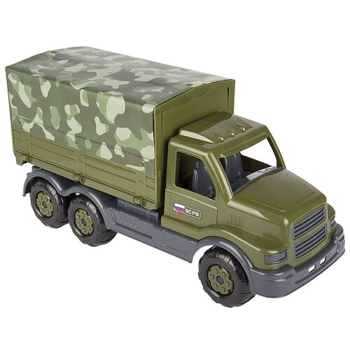 Купить Фургон Полесье военный тентовый бортовой Сталкер РФ (48646) 44.5 см зеленый, Машинки и техника