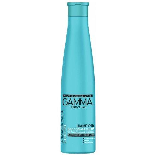Купить GAMMA шампунь Perfect Hair 3D Hyaluronic Moisture Sulfate Free с 3D гиалуроновой кислотой для сухих и ломких волос 350 мл